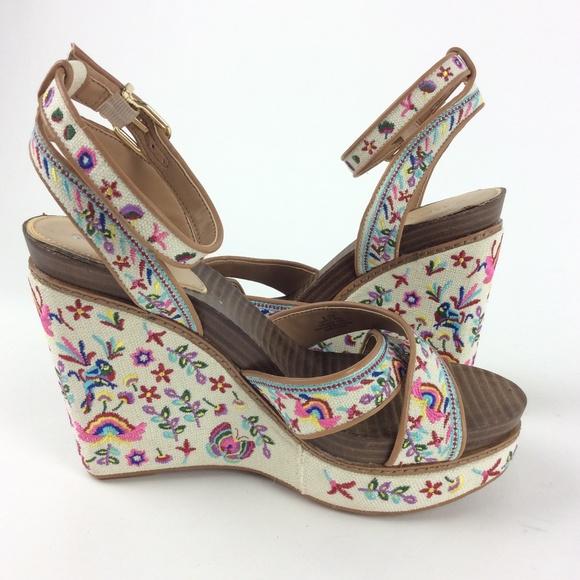 119272718c Gianni Bini Shoes | Womens Floral Printed Wedge Sandals | Poshmark